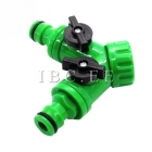 3⁄4'' BSP male x S60X6 female buttress and Plastic Hose Pipe Tool 2 Way Connector 2 Way Tap Garden