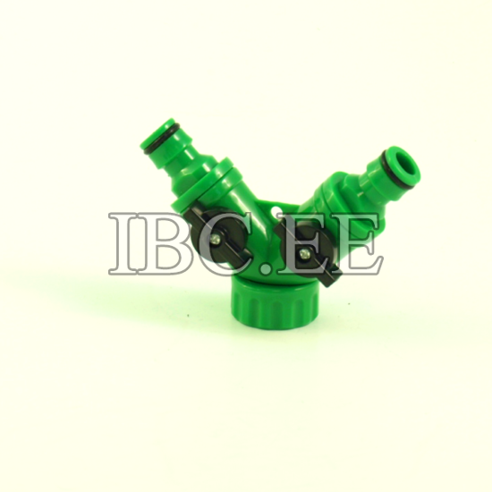 3?4'' BSP male x S60X6 female buttress and Plastic Hose Pipe Tool 2 Way Connector 2 Way Tap Garden