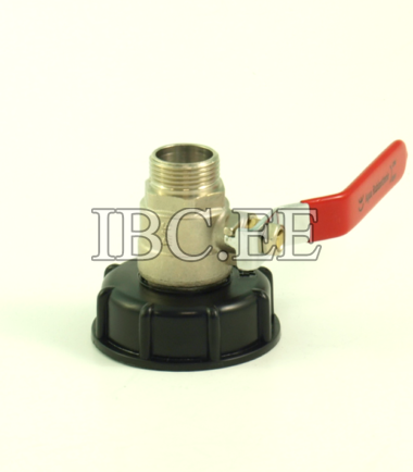 Adapter S60X6 female and 3/4 inch valve MM NPT / BSP thread