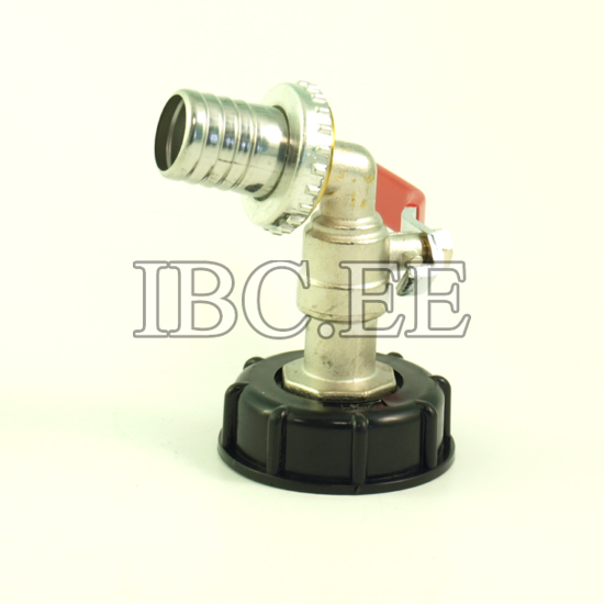"""Adapter for IBC container 2"""" with valve 1"""" for hose 27mm"""