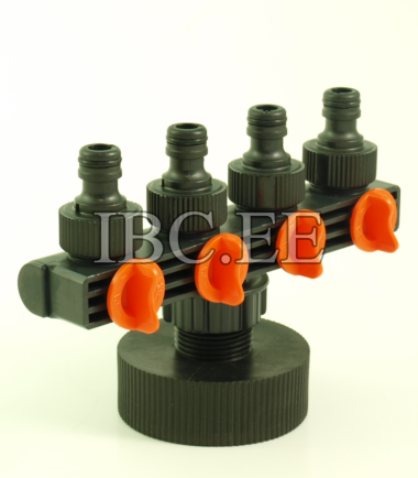 S60X6 female 1'' Pipe Tap garden red (4 taps)