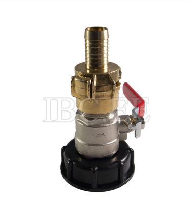 Adapter IBC - Geka coupling S60X6 female 1'' valve MM DN25 PN30 nikkel Geka hose brass 20 mm