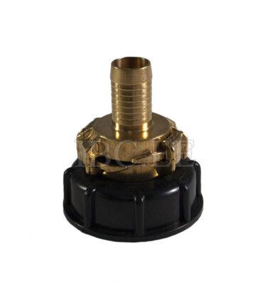 Adapter IBC - Geka coupling S60X6 female 1'' nikkel Geka hose brass 20 mm