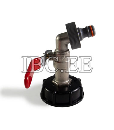 "Adapter for IBC container 2"" with valve 3⁄4'' for Pipe Tap garden"