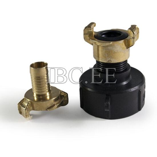 Adapter IBC - Geka coupling S60X6 female 1'' M nikkel Geka hose brass 20 mm