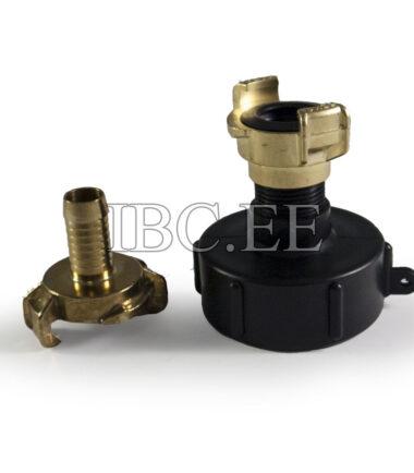 Adapter IBC - Geka coupling S60X6 female 34'' M nikkel Geka hose brass 17 mm