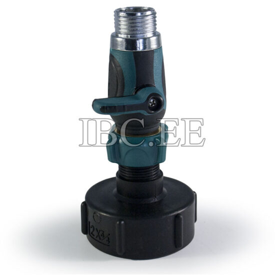 IBC connector S60X6 1 Way Tap Connectors 3/4'' male thread for Garden Irrigation System plastik
